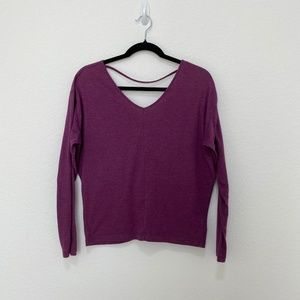 Prana Purple Long Sleeve Tee T-Shirt Yoga Top Pullover Size S